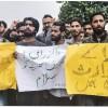 Hundreds of students attended in absentia prayers for slain professor at Kashmir University