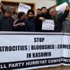 Hurriyat Conference (G) holds protest demonstration in Srinagar against 'human rights violations'