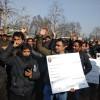 NRHM employees protest in Srinagar