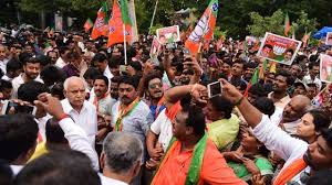 Congress, Jantal Dal  staged protest against the Karnataka Governor