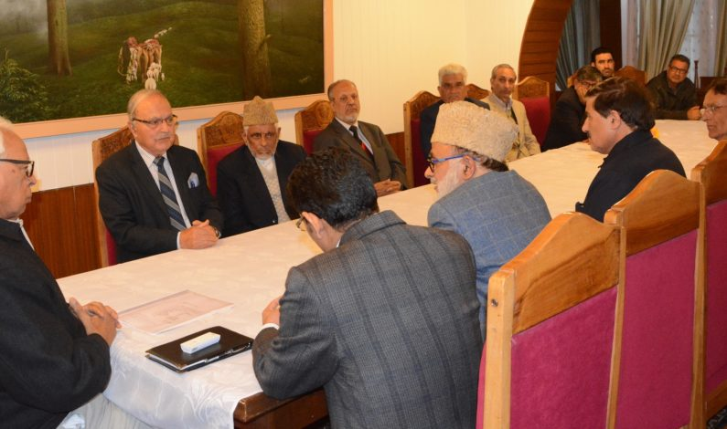 National Conference delegation meets Governor