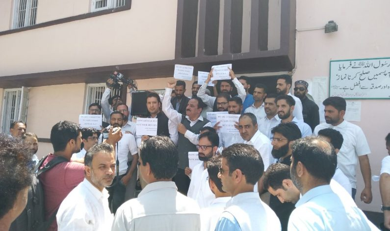 Lawyers in Anantnag protest against 'attempt to scrap Article 35-A'