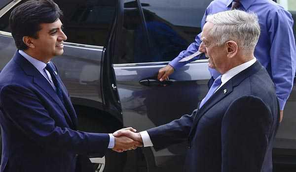 Pak envoy meets US Defence Secy; discusses bilateral ties