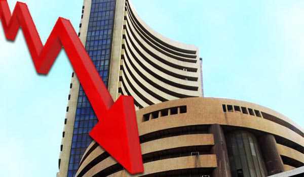 Sensex falls by 158.22 pts