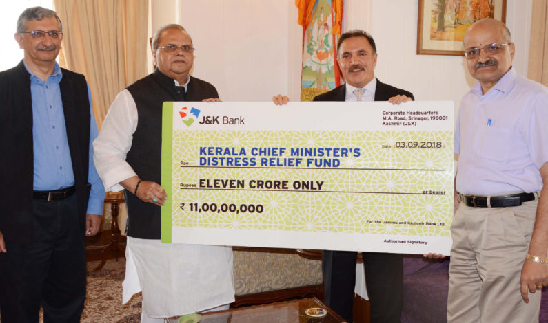 JK bank arbitrarily cuts six day salary of employees for Kerala flood relief fund