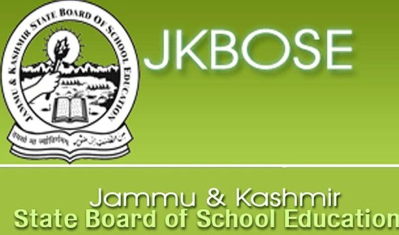 JK BOSE notification for Higher secondary Class 11, term 1, term 2,  last chance exam for Kashmir division students