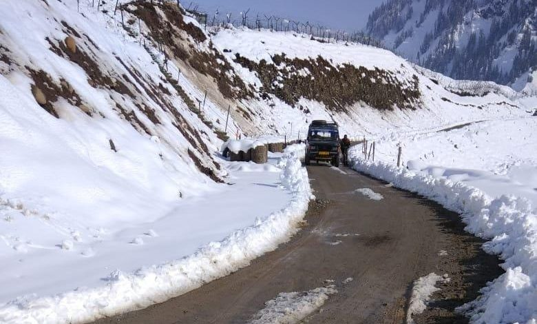Alert sounded in the area After Heavy Avalanche Block River Kishanganga Near Gurez's Gujran Tulail