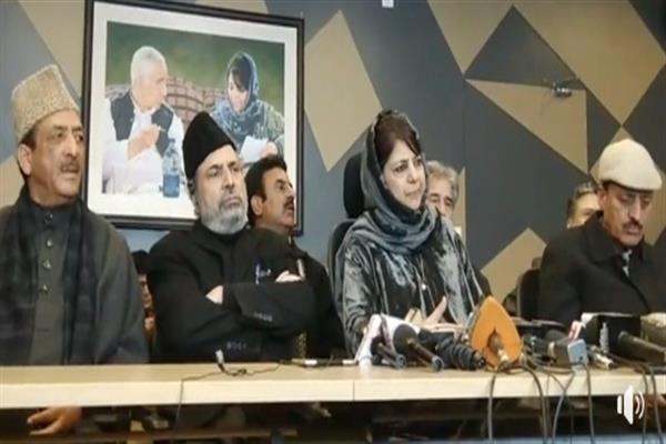 Mehbooba convenes All Party Meet at 6 pm, urges separatists, Ulema to join too