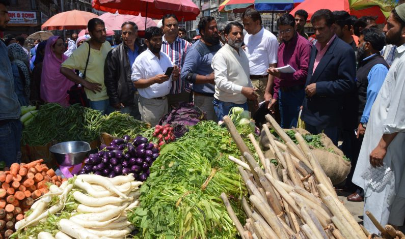 Market checking conducted in Srinagar