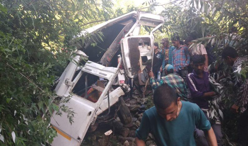 11 injured as passengers bus rolls into deep gorge in Doda