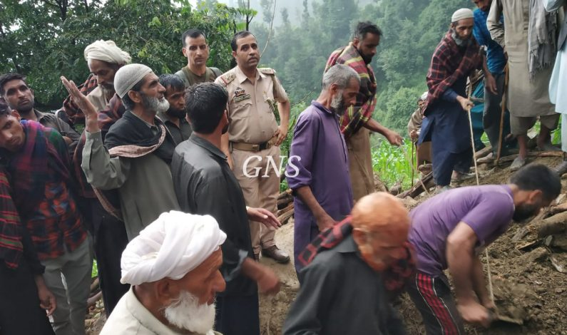 Man killed, cow shed damaged in flash floods amid heavy rains in Surankote