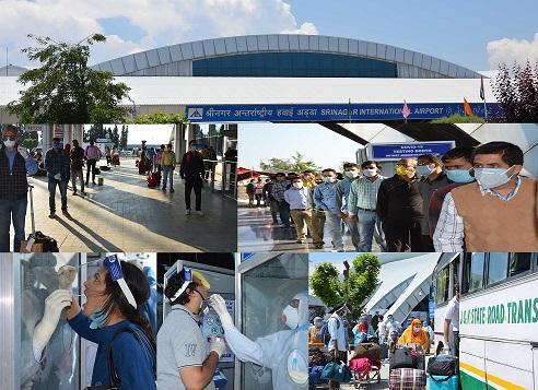 6 flights carrying 562 stranded passengers arrive at Srinagar Airport
