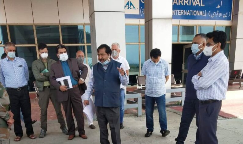 Dheeraj Gupta takes stock of arrangements at Srinagar Airport 9 flights expected to arrive on 25th May