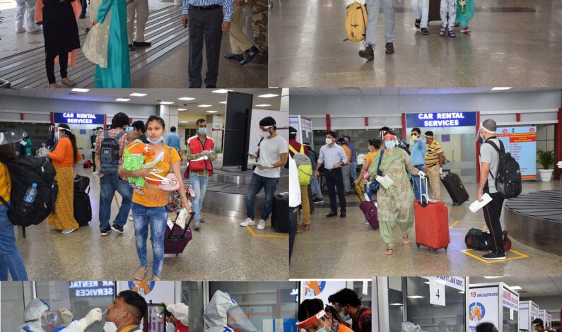 J&K: 170 stranded residents arrive at Jammu airport as passenger flights resume