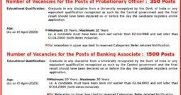 J&K Bank releases recruitment notification for PO, Banking Associates