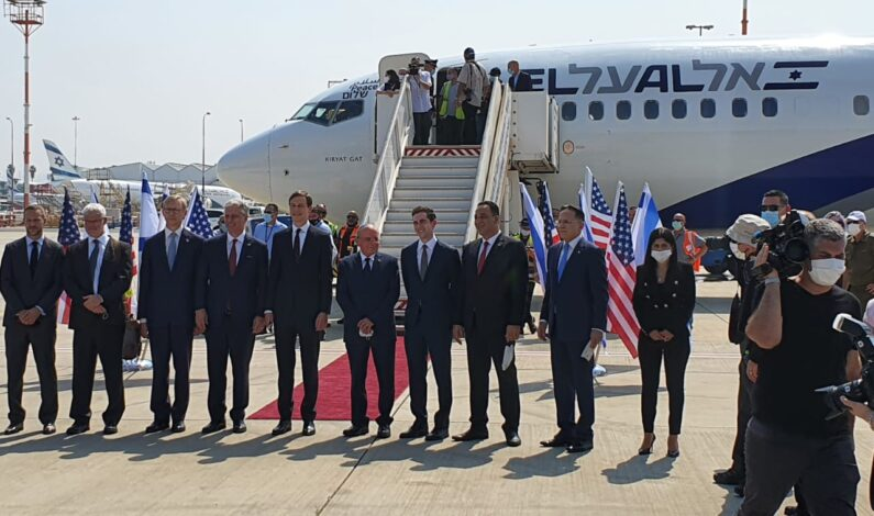 Israel & US delegations depart to UAE in a first ever direct flight from Israel