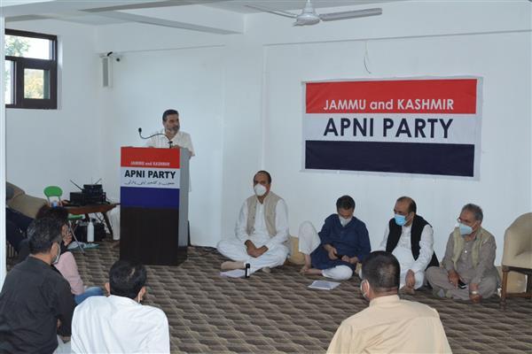 Apni party demands restoration of statehood, protection of domicile Law on land rights in J&K