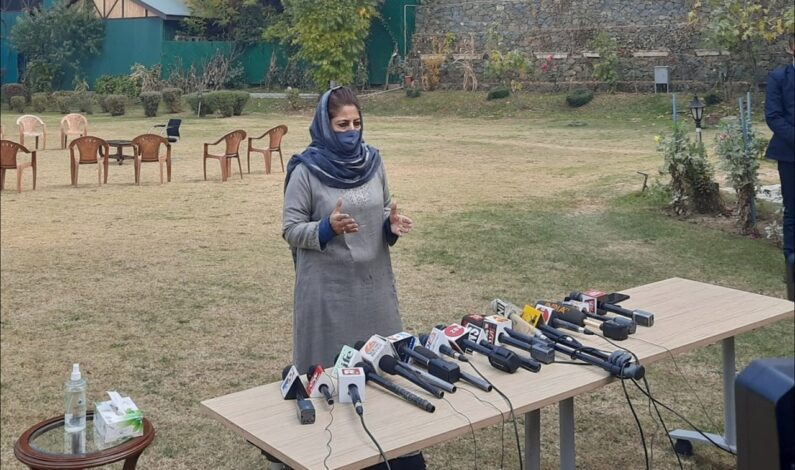 Go and take on China, why are you suppressing helpless Kashmiris: Mehbooba to BJP