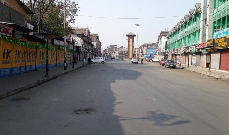On Hurriyat's shutdown call, normal life hit in Kashmir