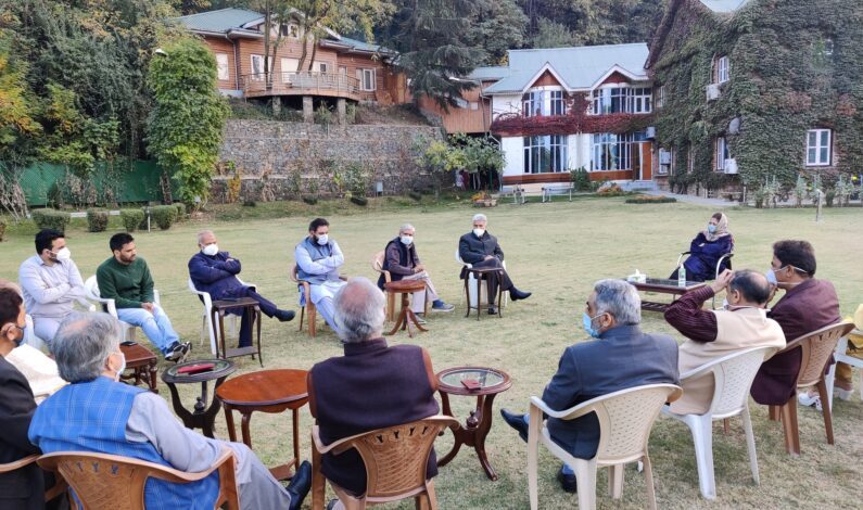 PDP Chief Mehbooba Mufti chairs first party meeting after Art 370 abrogation to discuss prevailing situation