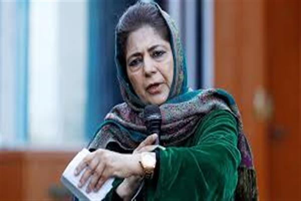 GoI deliberately endangering the lives of political opponents in Kashmir: Mehbooba Mufti