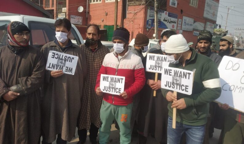 Dead-lock over meat prices:: Mutton traders stage protest in Kashmir capital Srinagar
