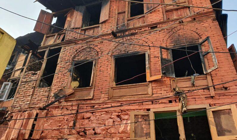 Massive blaze devastate dreams of six families of Fateh Kadal in Old city