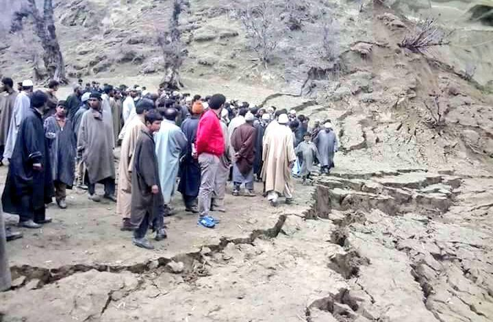 Landslides triggered by incessant rains damage half-dozen shops in Chrar-e-Sharief