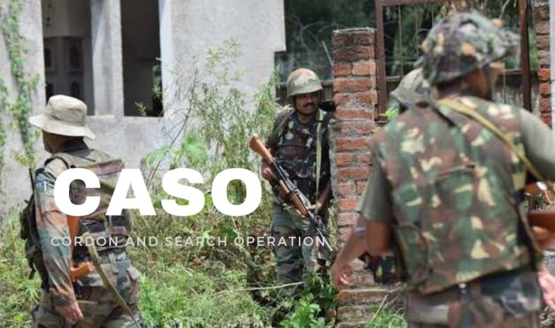 Cordon and Search Operation in Rajouri town