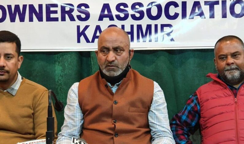 Let local Kashmiris earn livelihood, local contractors say as they demand roll back of Sand, stone quarrying, mining contract to outsiders'