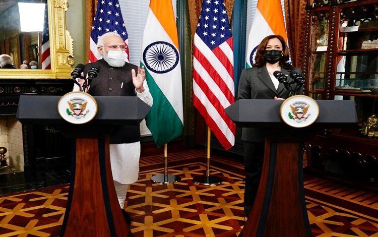 Modi meets US Vice President Kamala Harris in Washington DC; both leaders call for free & open Indo-Pacific region