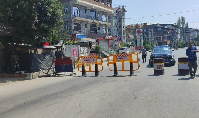 Restrictions continue to remain in place for 3rd consecutive day in parts of Kashmir