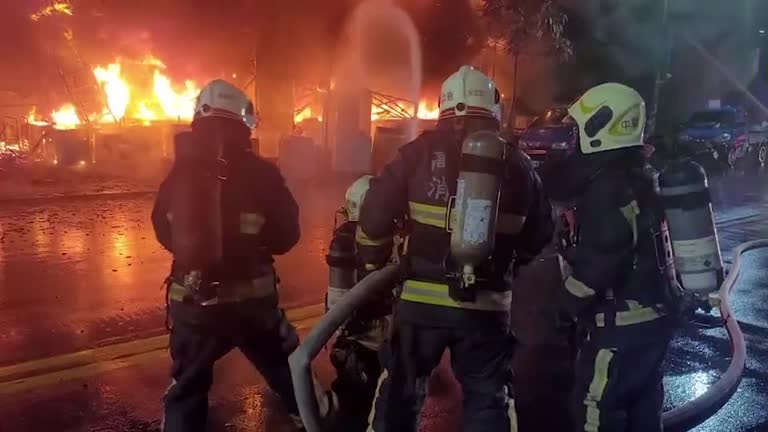 At least 46 people killed, scores wounded in a massive fire incident in Taiwan