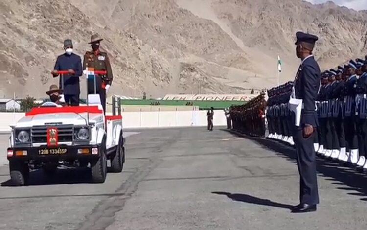 President Kovind reaches Leh on two-day visit to Ladakh, J&K